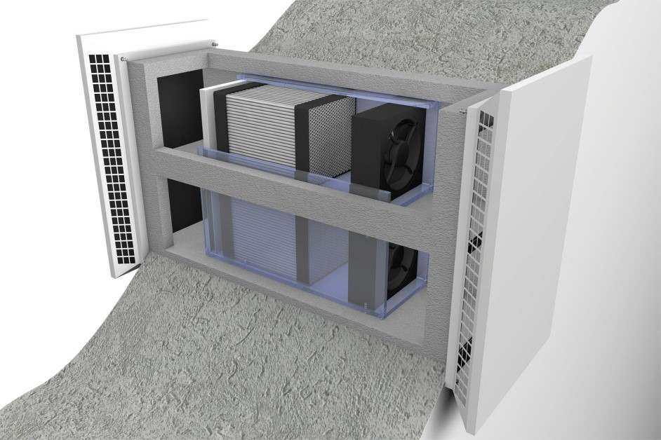 Airunit decentralised mechanical ventilation and heat recovery (MVHR)